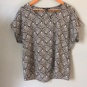 Lace Print Silky Top